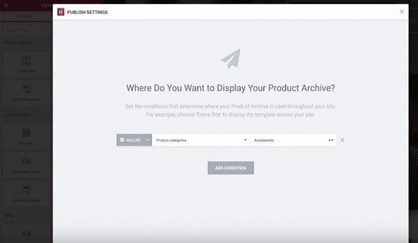 Tạo Popup cho trang Shop Archive trong elementor