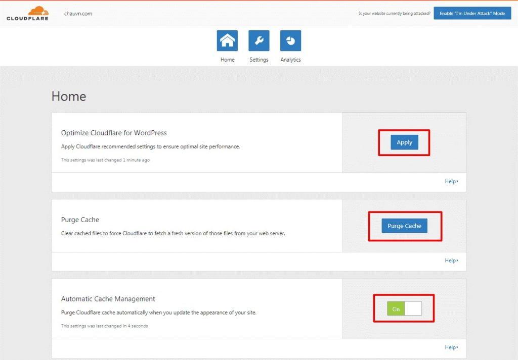 hướng dẫn cài đặt và cấu hình plugin cloudflare