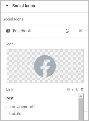 Social Icons Widget elementor