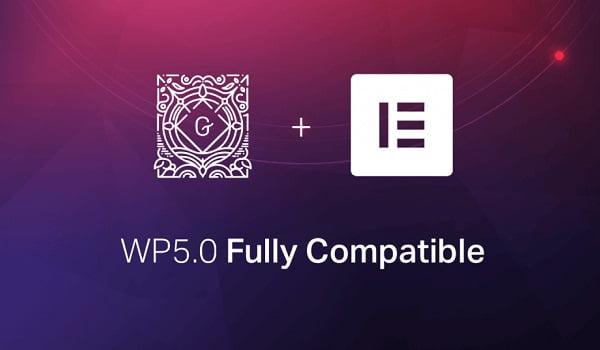 Khả năng tương thích của Elementor với WordPress 5.0