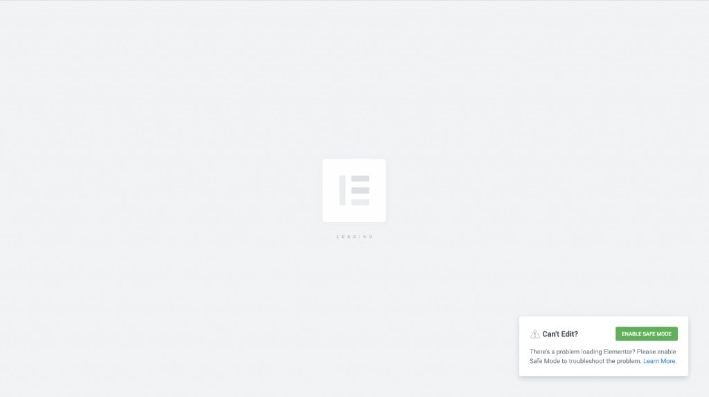 My page is gray – Endless loading