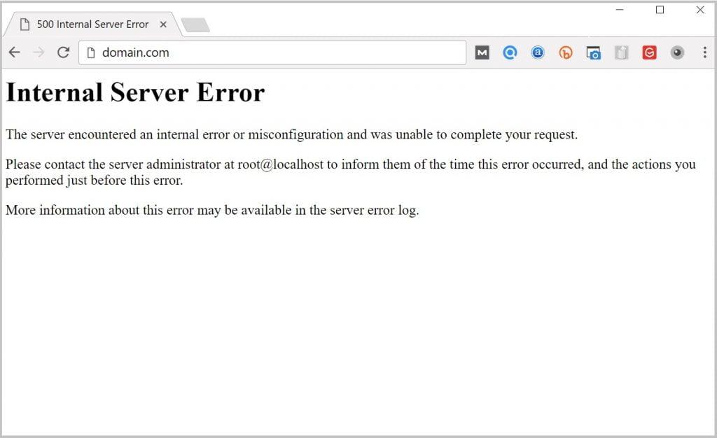 "Lỗi ""Internal Server"" khi chỉnh sửa bằng Elementor"