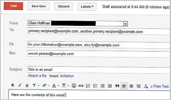 CC và BCC đều rất hữu ích khi dùng để gửi thư cho nhóm làm việc, danh sách khách hàng,...