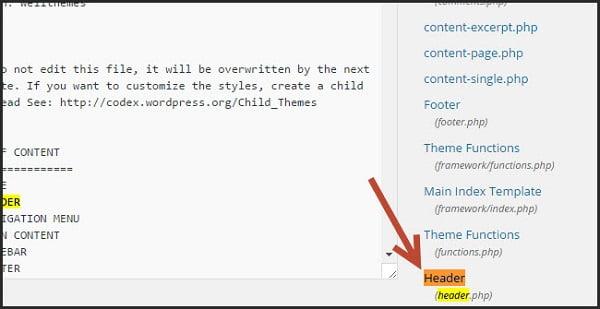 Cách chèn Header vào Website