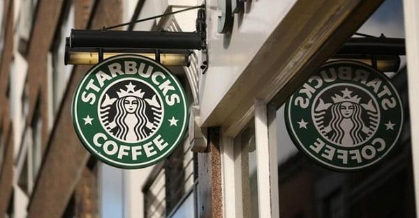 Chuỗi cửa hàng cà phê nổi tiếng của Starbucks.