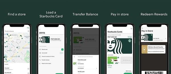 App Starbucks Rewards của Starbucks.