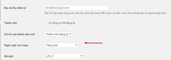 Cài đặt ngôn ngữ cho WooCommerce.